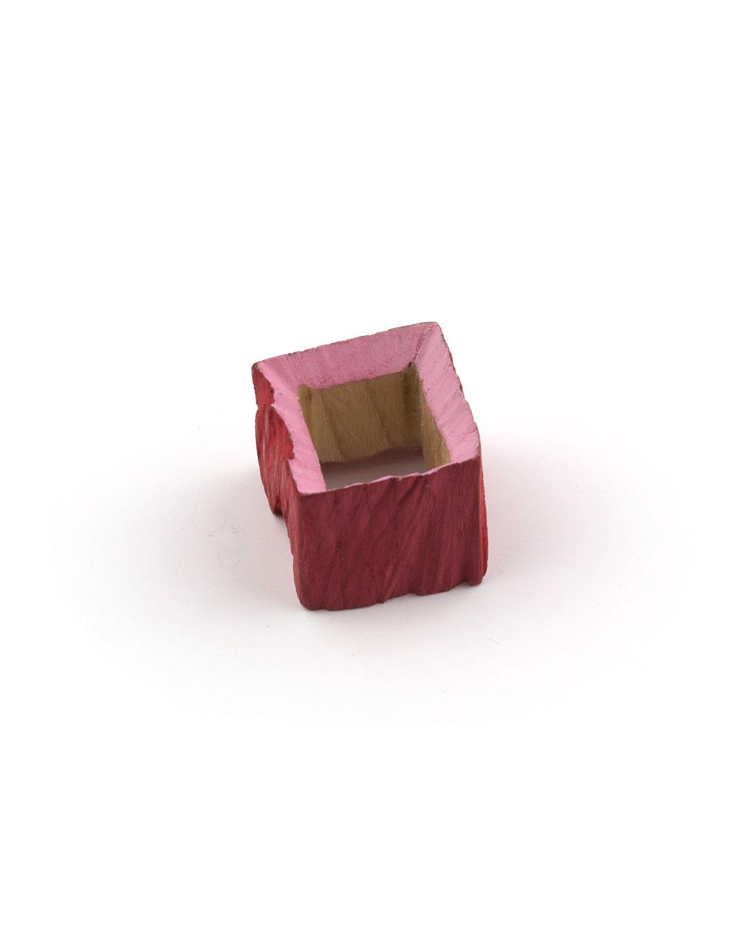 Flóra Vági, untitled, 2012, ring; wood, enamel paint, acrylic paint, 25 x 28 mm, €250