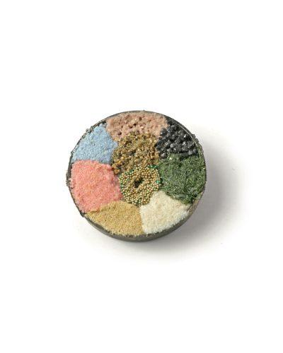 Lisa Walker, untitled, 1998, brooch; silver, sand, stones, fake grass, plastic, €3650
