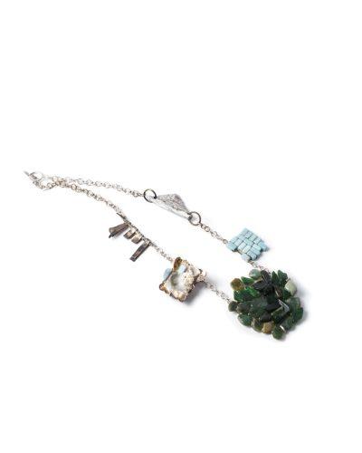 Lisa Walker, untitled, 1998-2020, necklace; silver, plastic, glue, photograph, ceramic, pounamu (New Zealand jade), aluminium, €4360