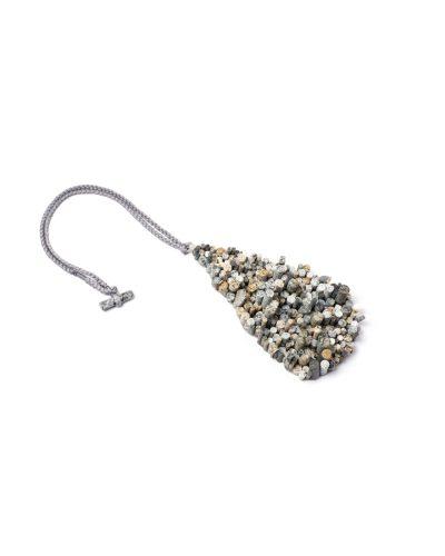 Lisa Walker, untitled, 2020, pendant; various stones, silver, cord, €5350