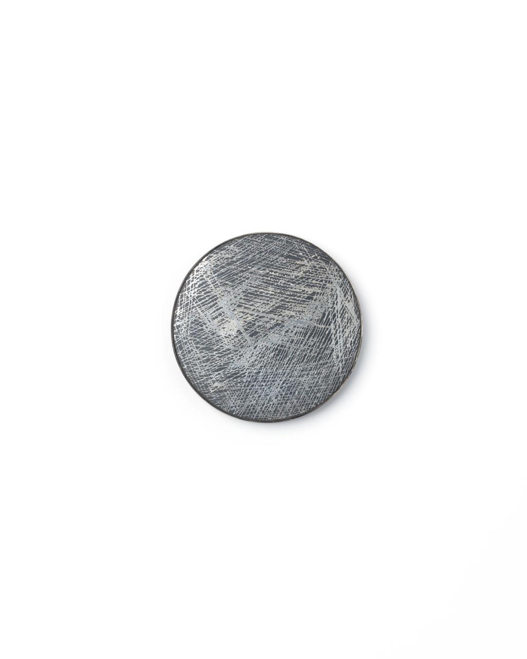 Florian Weichsberger, Moon #9, 2019, brooch; glass mirror, silver, steel, 85 x 85 x 10 mm, €970