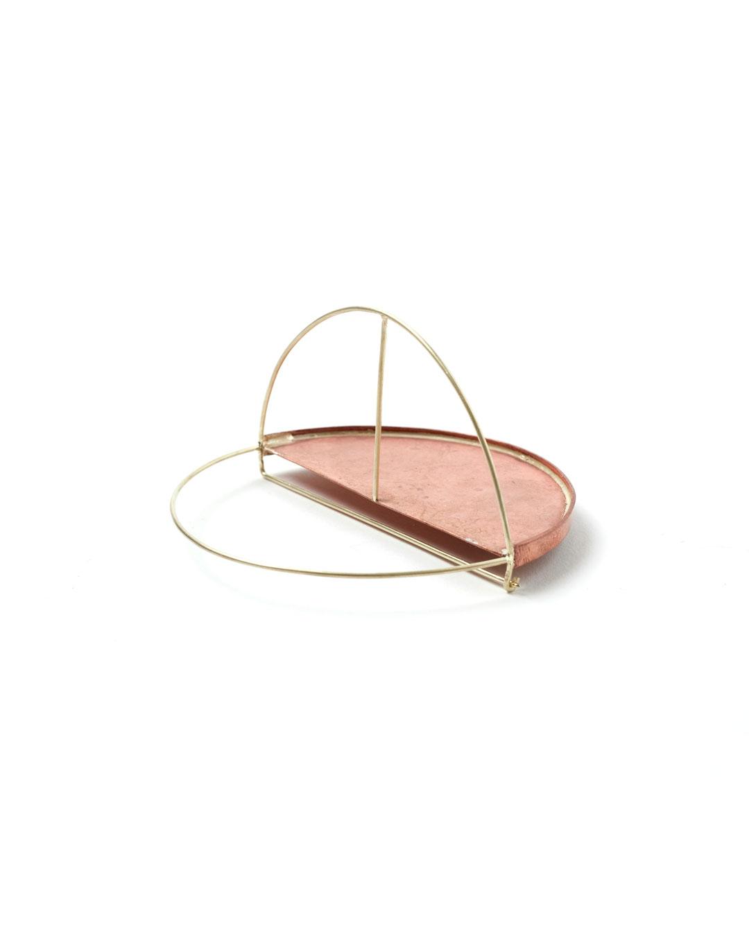 Florian Weichsberger, Sun #9, 2019, brooch; copper, 14ct gold, 71 x 71 x 40 mm, €1090