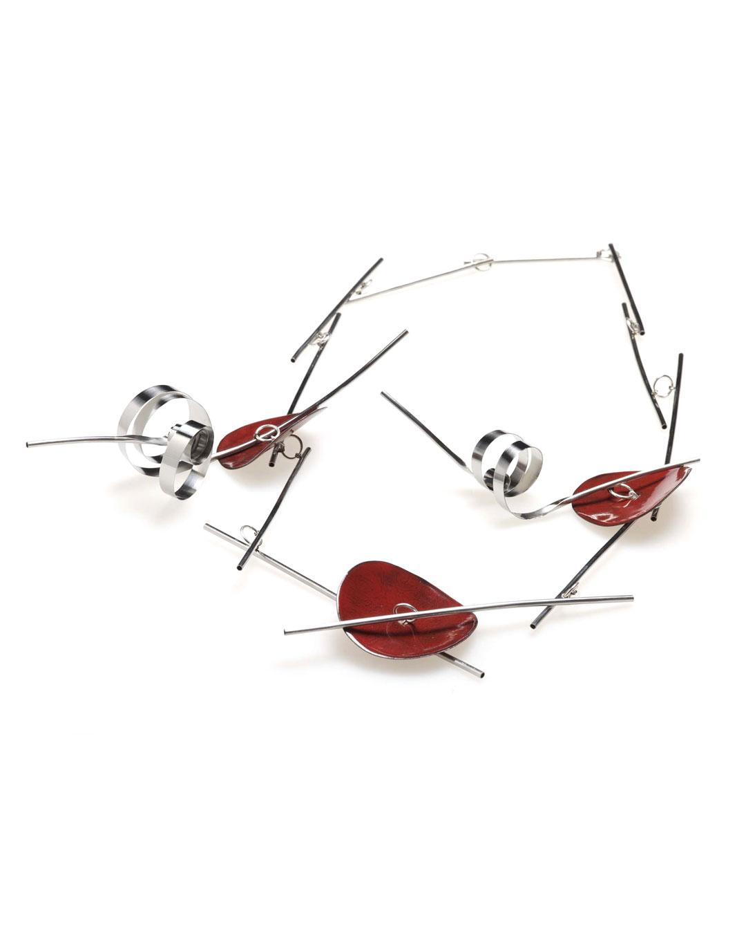Andrea Wippermann, Japanischer Garten III (Japanese Garden III), 2011, necklace; enamelled copper and steel, silver, gold, 390 x 270 x 39 mm, €3650