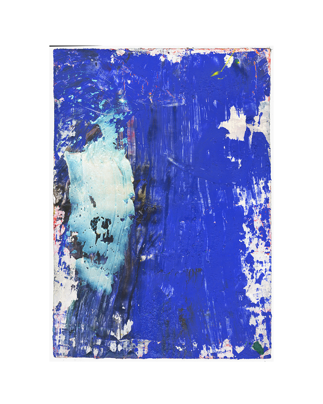 Piet Dieleman, untitled, 2020, painting, tempera, acrylic paint, laser wood print on paper, 385 x 275 mm, €930