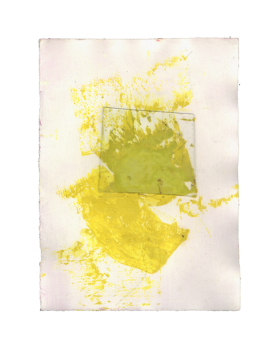 Piet Dieleman, untitled, 2020, painting, glass, oil paint, acrylic paint on paper, 390 x 285 mm, €930