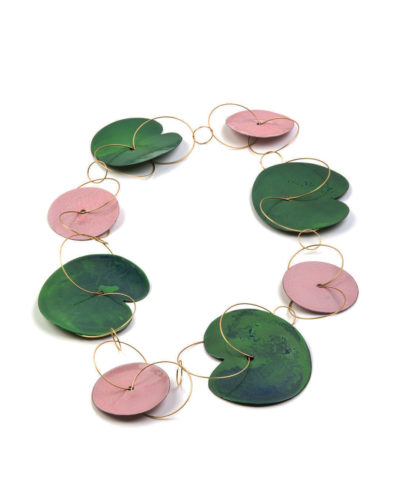 Andrea Wippermann, Pink Waterlilies, 2007, necklace