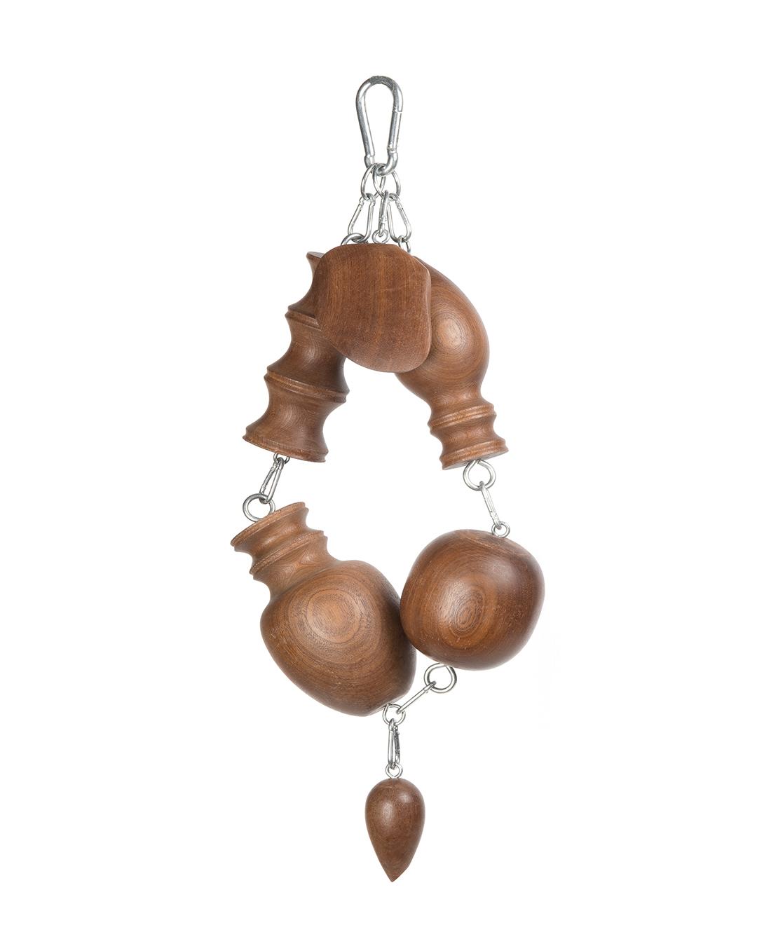 Markéta Kratochvílová, Chinese Necklace, 2016, necklace; exotic wood, stainless steel 600 x 250 x 120 mm