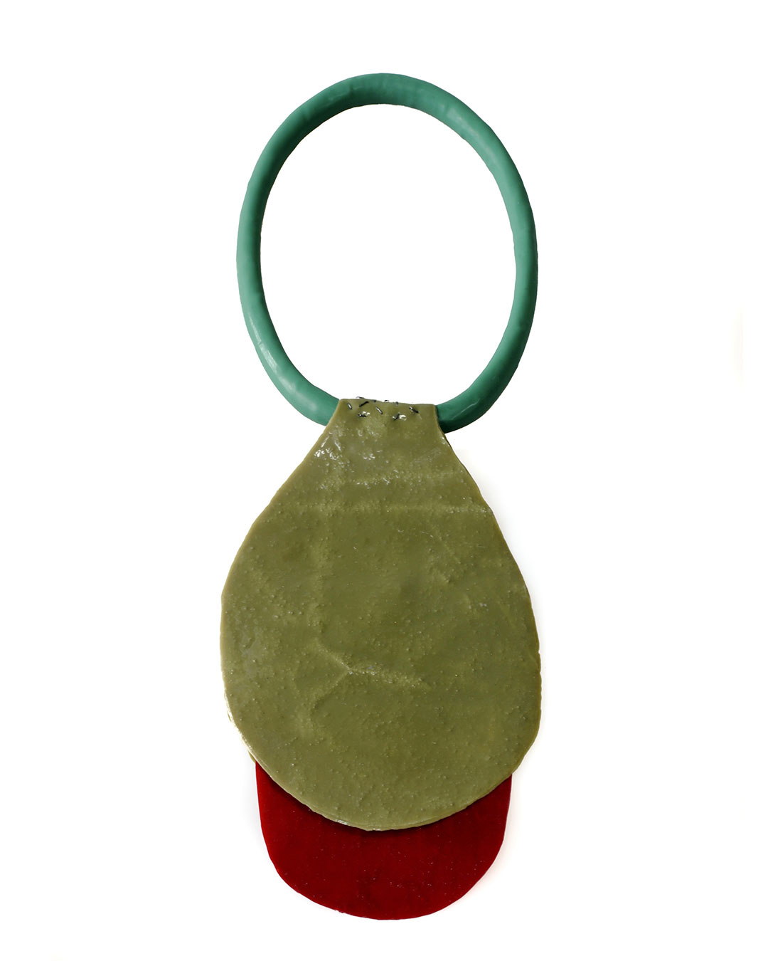 Ela Bauer, necklace, 2012-2020, resin, pigment, silicone rubber, €980
