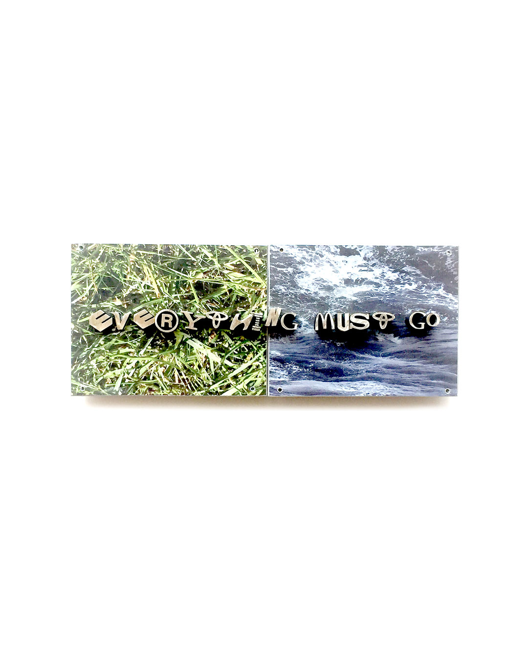 Jonathan Boyd, Everything must go, brooch, silver, UV printed aluminium, 120 x 60 x 20 mm, €1900