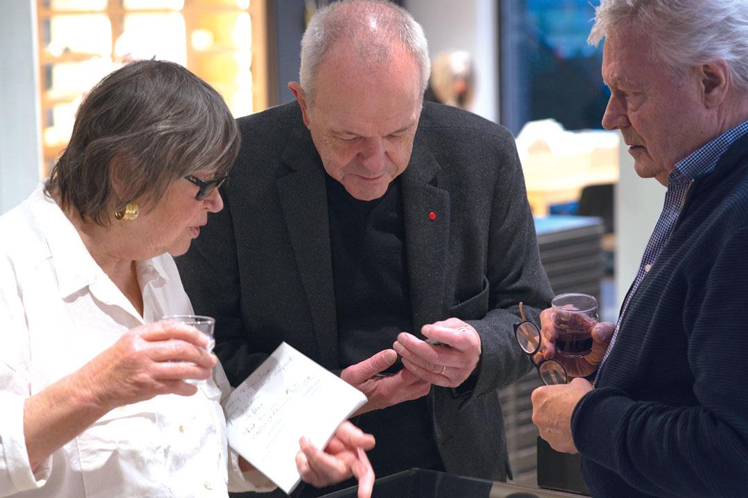 Dorothea Prühl, Otto Künzli and Robert Smit at Galerie Marzee